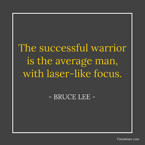 Leadership quotes on focus - Bruce Lee
