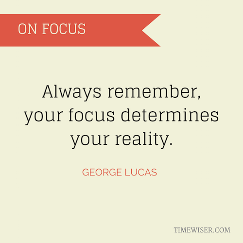 Leadership quotes on focus - George Lucas