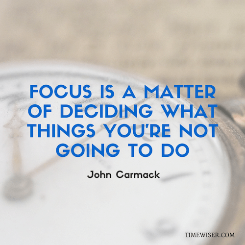 Leadership quotes on focus - John Carmack