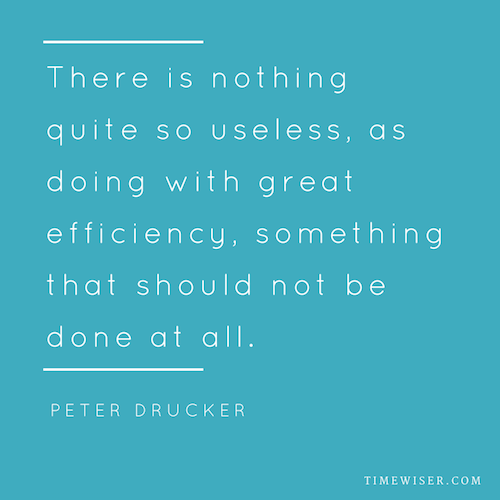 Leadership quotes on focus - Peter F.Drucker