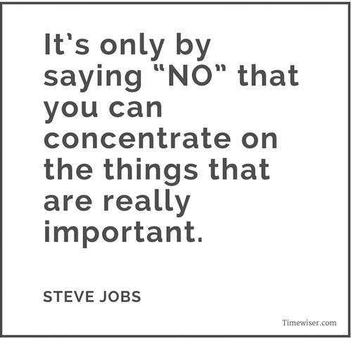 Leadership quotes on focus - Steve Jobs